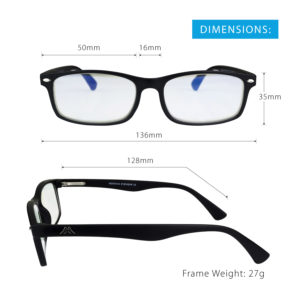 BLUE LIGHT GLASSES | (Black)