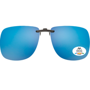CLIP ON SUNGLASS SHADES | (Blue)
