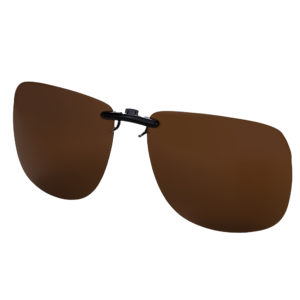 CLIP ON SUNGLASSES | (Brown)